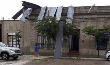Fuerte temporal causó destrozos en Villa Santa Rosa de Río Primero