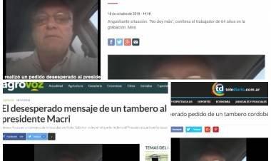 ALICIA: LOS MEDIOS DEL PAÍS REFLEJARON LA NOTICIA DEL TAMBERO