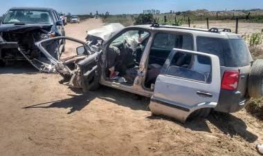 ALICIA: TREMENDO ACCIDENTE EN UN CAMINO RURAL.