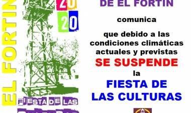 EL FORTÍN: CONFIRMARON LA SUSPENSIÓN DE LA FIESTA DE LAS CULTURAS